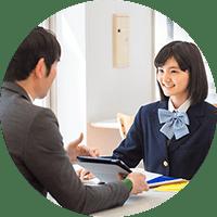 生徒と先生のコミュニケーションのイメージ